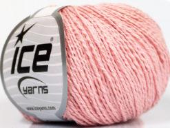 Lot of 4 Skeins Ice Yarns SILK COTTON (32% Silk 68% Cotton) Yarn Light Pink