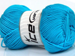 Lot of 4 x 100gr Skeins Ice Yarns TUBE VISCOSE (73% Viscose) Yarn Turquoise