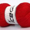 Lot of 4 x 100gr Skeins Ice Yarns TUBE VISCOSE (73% Viscose) Yarn Red