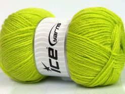 Lot of 4 x 100gr Skeins Ice Yarns GONCA Hand Knitting Yarn Light Green