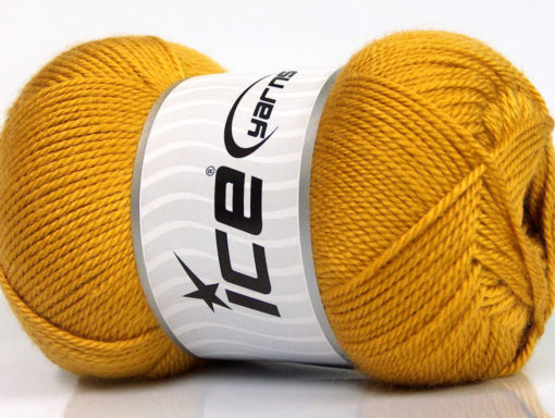 Lot of 4 x 100gr Skeins Ice Yarns DORA Hand Knitting Yarn Gold