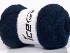 Lot of 4 x 100gr Skeins Ice Yarns DORA Hand Knitting Yarn Navy