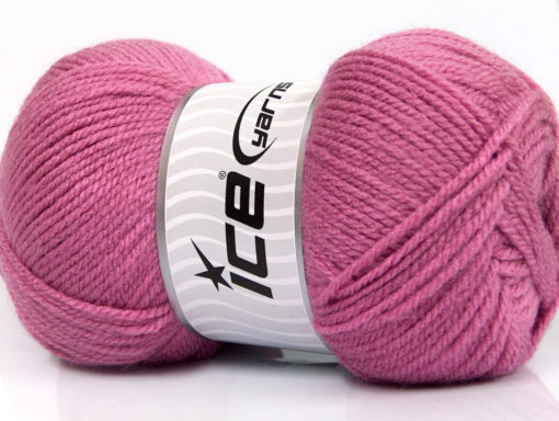 Lot of 4 x 100gr Skeins Ice Yarns Worsted FAVORITE Hand Knitting Yarn Orchid