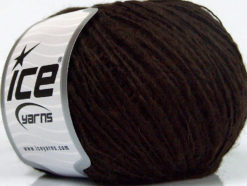 Lot of 8 Skeins Ice Yarns SALE LUXURY-PREMIUM (15% Alpaca 10% Wool) Yarn Dark Brown