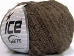 Lot of 10 Skeins Ice Yarns KID MOHAIR FLAMME (37% Kid Mohair) Yarn Brown