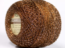 Lot of 10 Skeins YarnArt CAMELLIA (30% Metallic) Yarn Copper Silver