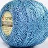 Lot of 10 Skeins YarnArt CAMELLIA (30% Metallic) Yarn Light Blue Silver