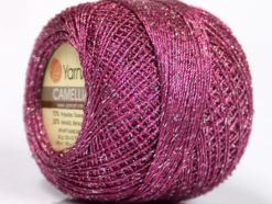 Lot of 10 Skeins YarnArt CAMELLIA (30% Metallic) Yarn Orchid Silver