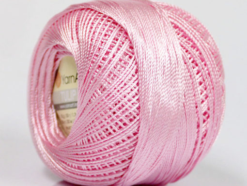 Lot of 6 Skeins YarnArt TULIP (100% MicroFiber) Hand Knitting Yarn Light Pink