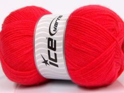 Lot of 4 x 100gr Skeins Ice Yarns SUPER BABY Hand Knitting Yarn Salmon