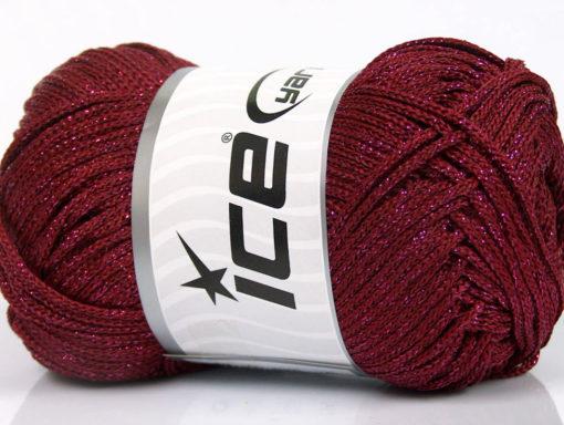 Lot of 4 x 100gr Skeins Ice Yarns MACRAME CORD Hand Knitting Yarn Burgundy