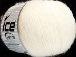 Lot of 8 Skeins Ice Yarns ALPACA SOFTAIR (25% Alpaca 15% Superwash Merino Wool) Yarn Off White