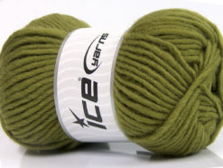 Lot of 4 x 100gr Skeins Ice Yarns FELTING WOOL (100% Wool) Yarn Green