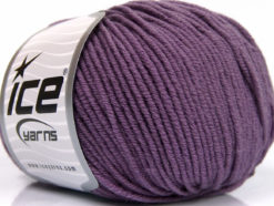 Lot of 4 Skeins Ice Yarns SUPERWASH MERINO EXTRAFINE (100% Superwash Extrafine Merino Wool) Yarn Lavender