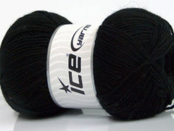 Lot of 4 x 100gr Skeins Ice Yarns ELITE WOOL (30% Wool) Yarn Black