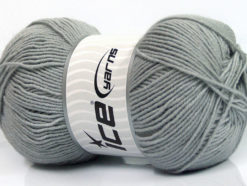Lot of 4 x 100gr Skeins Ice Yarns ELITE WOOL (30% Wool) Yarn Light Grey