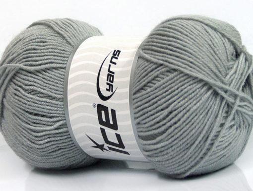 Lot of 4 x 100gr Skeins Ice Yarns ELITE WOOL (30% Wool) Yarn Light Grey