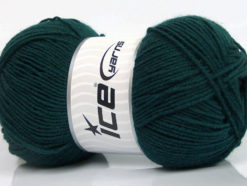 Lot of 4 x 100gr Skeins Ice Yarns ELITE WOOL (30% Wool) Yarn Dark Green