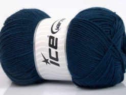 Lot of 4 x 100gr Skeins Ice Yarns ELITE WOOL (30% Wool) Hand Knitting Yarn Navy