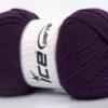 Lot of 4 x 100gr Skeins Ice Yarns ELITE WOOL (30% Wool) Yarn Purple