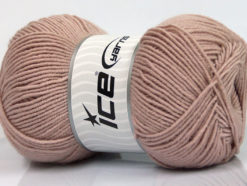 Lot of 4 x 100gr Skeins Ice Yarns ELITE WOOL (30% Wool) Yarn Light Rose Pink