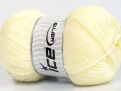 Lot of 4 x 100gr Skeins Ice Yarns Worsted FAVORITE Yarn Lemon Yellow
