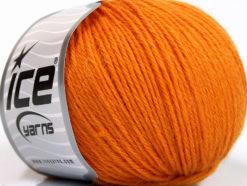 Lot of 4 Skeins Ice Yarns BABY ALPACA (45% Superwash Extrafine Merino Wool) Yarn Orange