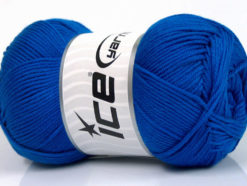 Lot of 4 x 100gr Skeins Ice Yarns BABY COTTON 100GR (100% Giza Cotton) Yarn Royal Blue