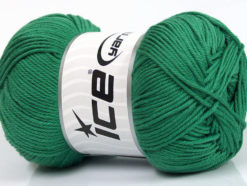 Lot of 4 x 100gr Skeins Ice Yarns BABY COTTON 100GR (100% Giza Cotton) Yarn Emerald Green