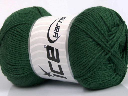 Lot of 4 x 100gr Skeins Ice Yarns BABY COTTON 100GR (100% Giza Cotton) Yarn Dark Green
