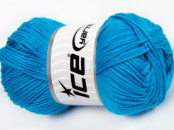 Lot of 4 x 100gr Skeins Ice Yarns BABY COTTON 100GR (100% Giza Cotton) Yarn Turquoise