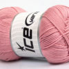 Lot of 4 x 100gr Skeins Ice Yarns BABY COTTON 100GR (100% Giza Cotton) Yarn Rose Pink