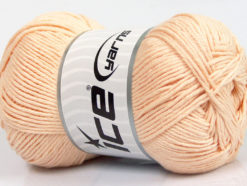 Lot of 4 x 100gr Skeins Ice Yarns BABY COTTON 100GR (100% Giza Cotton) Yarn Light Salmon