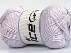 Lot of 4 x 100gr Skeins Ice Yarns BABY COTTON 100GR (100% Giza Cotton) Yarn Light Lilac