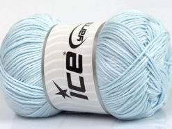 Lot of 4 x 100gr Skeins Ice Yarns BABY COTTON 100GR (100% Giza Cotton) Yarn Light Blue
