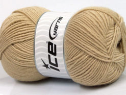 Lot of 4 x 100gr Skeins Ice Yarns BAMBOO SOFT FINE (50% Bamboo) Yarn Cafe Latte