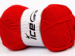 Lot of 4 x 100gr Skeins Ice Yarns BAMBOO SOFT FINE (50% Bamboo) Yarn Red