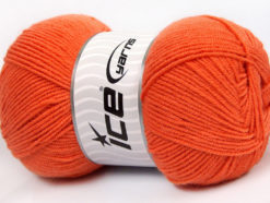 Lot of 4 x 100gr Skeins Ice Yarns BAMBOO SOFT FINE (50% Bamboo) Yarn Dark Orange