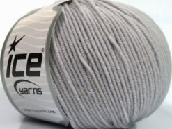 Lot of 4 Skeins Ice Yarns SUPERWASH MERINO EXTRAFINE (100% Superwash Extrafine Merino Wool) Yarn Light Grey