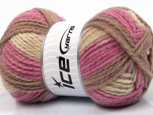 Lot of 4 x 100gr Skeins Ice Yarns DESIGN WOOL WORSTED (30% Wool) Yarn Orchid Lilac Brown Beige