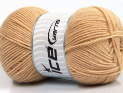 Lot of 4 x 100gr Skeins Ice Yarns ELITE WOOL (30% Wool) Yarn Cafe Latte