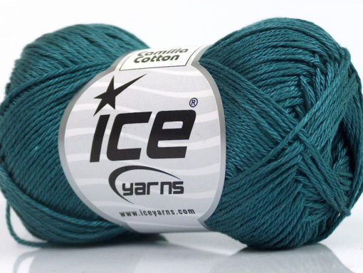 Lot of 6 Skeins Ice Yarns CAMILLA COTTON (100% Mercerized Cotton) Yarn Dark Teal