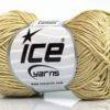 Lot of 6 Skeins Ice Yarns CAMILLA COTTON (100% Mercerized Cotton) Yarn Light Khaki