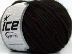 Lot of 8 Skeins Ice Yarns WOOL CORD BULKY (50% Wool) Yarn Coffee Brown