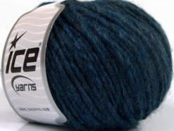 Lot of 8 Skeins Ice Yarns WOOL CORD BULKY (50% Wool) Yarn Dark Jeans Blue