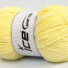 Lot of 4 x 100gr Skeins Ice Yarns BAMBOO SOFT FINE (50% Bamboo) Yarn Light Yellow