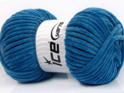 Lot of 4 x 100gr Skeins Ice Yarns CHENILLE BABY (100% MicroFiber) Yarn Dark Blue