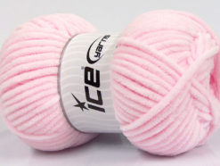 Lot of 4 x 100gr Skeins Ice Yarns CHENILLE BABY (100% MicroFiber) Yarn Baby Pink