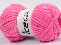 Lot of 4 x 100gr Skeins Ice Yarns CHENILLE BABY (100% MicroFiber) Yarn Pink