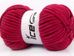 Lot of 4 x 100gr Skeins Ice Yarns CHENILLE BABY (100% MicroFiber) Yarn Fuchsia